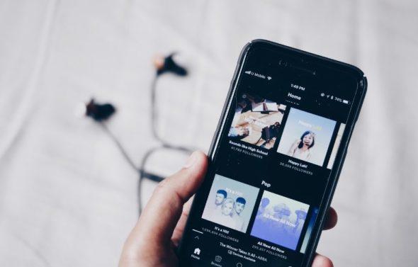 Spotify Brand Playlist Smartphone